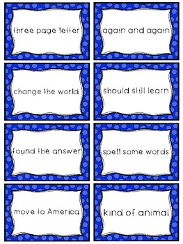 Fry Sight Word Phrases - The Second 100 Set 4: Words 76-100