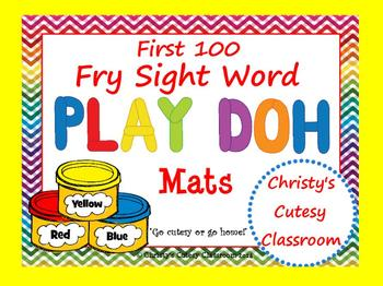Fry Sight Word Play Doh Mats--First 100