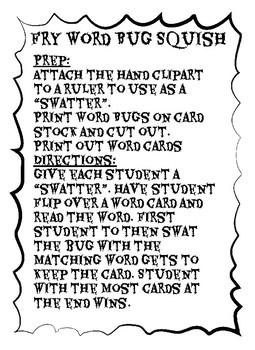 Fry Sight Word Practice (list 1)