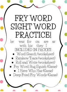 Fry Sight Word Practice (list 2)