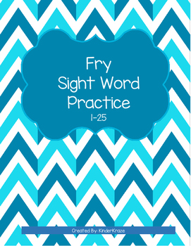 Fry Sight Word Practice- 1st 25