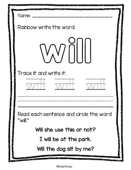Fry Sight Word Practice- 3rd 25