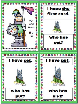 Fry Sight Word Practice I Have Who Has Game