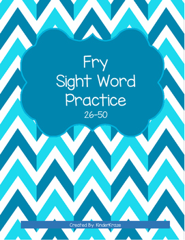 Fry Sight Word Practice- Second 25