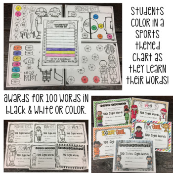 Fry Sight Word Program 10th 100 List Assessments and Word Cards