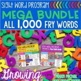 Fry Sight Word Program  MEGA BUNDLE ALL 1,000  Lists  Assessments Word Cards