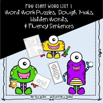Fry Sight Word Puzzles Set 1