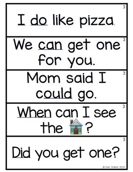 Fry Sight Word Puzzles Set 3