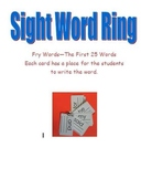 Fry Sight Word Rings--first 25 words