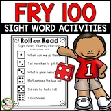 Fry Sight Word Roll and Read Center {1st 100 Fry Words}