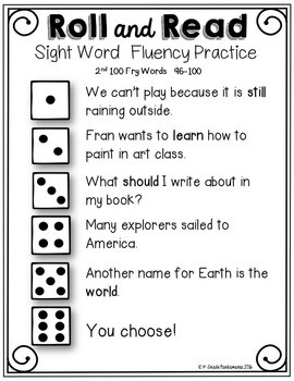 Fry Sight Word Roll and Read Center {1st 200 Fry Words} Bundle
