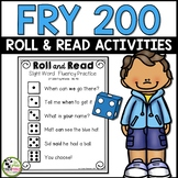 Fry Sight Word Roll and Read Center 200 Fry Words