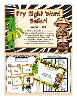 Fry Sight Word Safari: Words 1-100