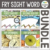 Sight Word Activity and Fry Spinners BUNDLE