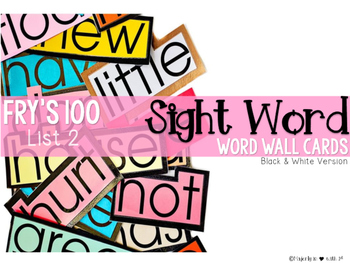 Word Wall Cards {Fry Sight Words: Second 100}