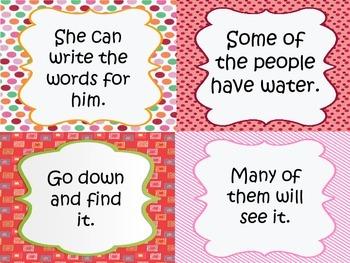 Fry Sight Word Sentences
