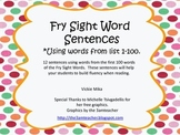 Fry Sight Word Sentences