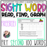 Fry Sight Word Series: Read, Find, and Graph (Second 100 Words) FREEBIE