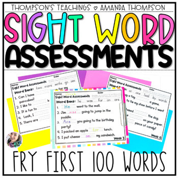 Fry Sight Word Series: Weekly Fry Sentence Assessments (First 100 Words)