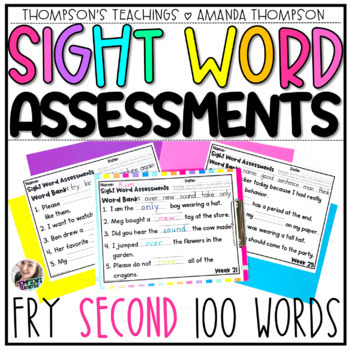 Fry Sight Word Series: Weekly Fry Sentence Assessments (SECOND 100 Words)