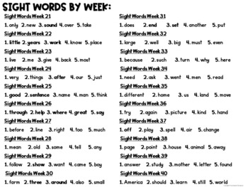 Fry Sight Word Series: Word Scramble and Rainbow Write (Second 100 Words)