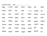 Fry Sight Word Sheets - 3rd 100