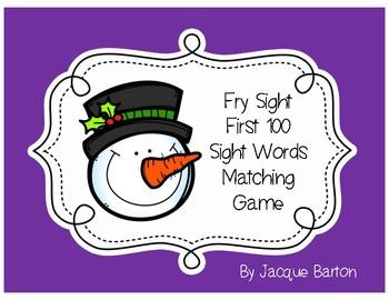 Fry Sight Word Snowman Match