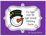 Fry Sight Word Snowman Match
