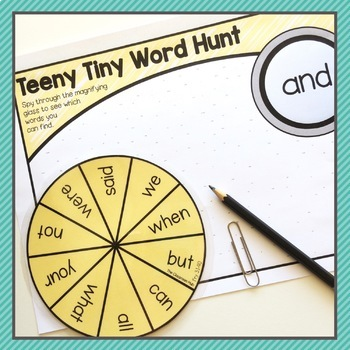 Fry Sight Word Spinners – 1st 300 Fry - Literacy Centers & Word Game Activities