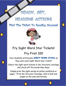Fry Sight Word Star Tickets (First 100)