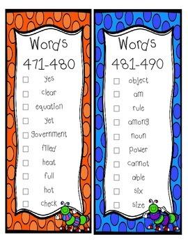 Fry Sight Word Sticker Book (401-500)