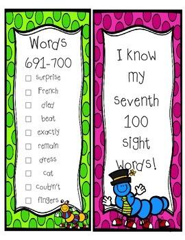 Fry Sight Word Sticker Book (601-700)