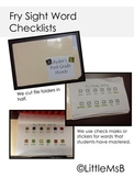 Fry Sight Word Sticker or Check-off Sheet #1-300 for K, 1s