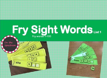 Fry Sight Word Task Cards