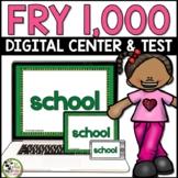 Fry Sight Words Test and Digital Center for 1,000 Fry Words Google Slides