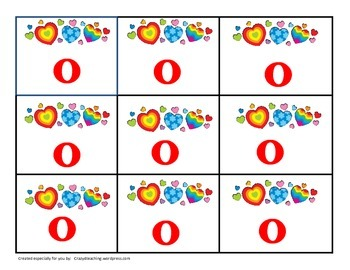 Fry Sight Word Tic Tac Toe Valentine's Day