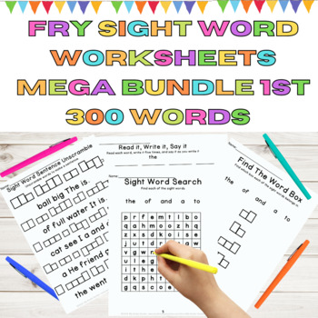 Fry High Frequency Words Sight Word Work Mega Bundle 60 Weeks of Work