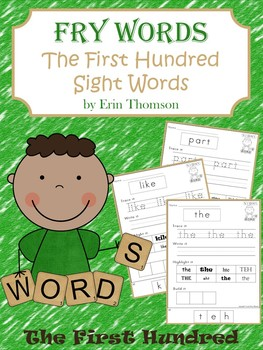 Fry Sight Word Worksheets ~ The First Hundred