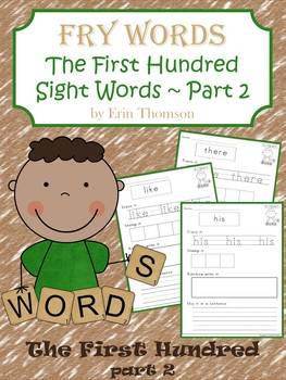 Fry Sight Word Worksheets ~ The First Hundred {Part 2}