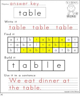 Fry Sight Word Worksheets ~ The Fourth Hundred