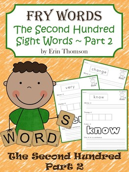 Fry Sight Word Worksheets ~ The Second Hundred {Part 2}