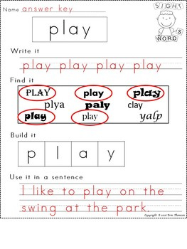 Fry Sight Word Worksheets ~ The Second Hundred