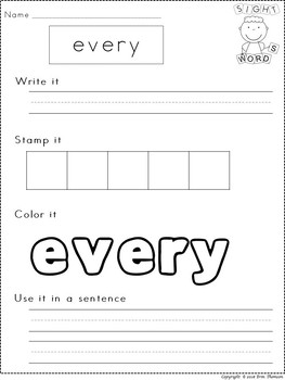 Fry Sight Word Worksheets ~ The Third Hundred {Part 2}