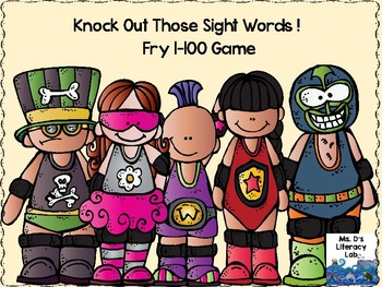 Fry Sight Words: 1-100 (Wrestling)