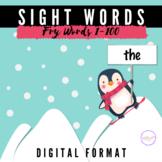 Fry Sight Words 1-100 | Interactive Digital Flash Card Gam