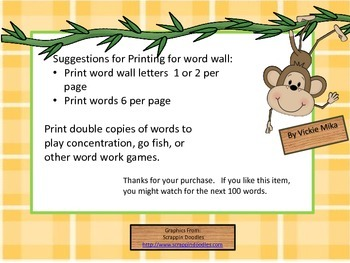 Fry Sight Words 1-100:  Monkeys in the Jungle
