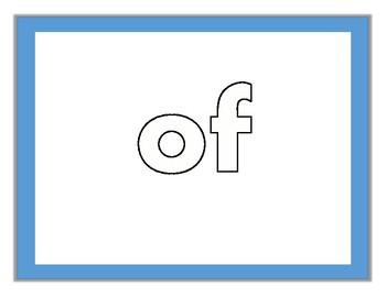 Fry Sight Words #1-20 Kinesthetic Mats (Set 1)