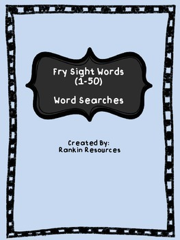 Fry Sight Words (1-50) Word Searches