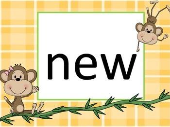 Fry Sight Words 101-200:  Monkeys in the Jungle