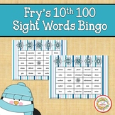 Fry Sight Words 10th 100 List Bingo Winter